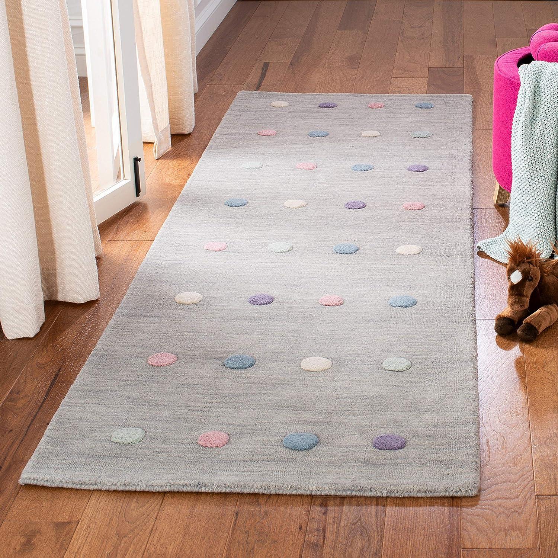 Safavieh Kids Collection Credence SFK803G Handmade Wool Runner Max 66% OFF Polka Dot
