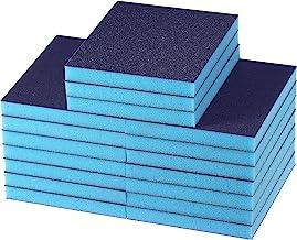 24 Pieces Blue Sanding Sponge Ultra Sanding Sponge Grit Drywall Sanding Blocks Washable Reusable Sanding Sponge for Cerami...