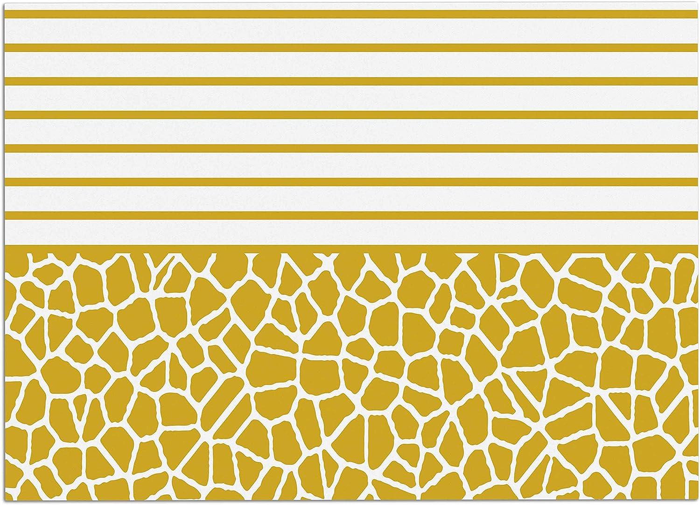 KESS InHouse TK1093ADM02 Trebam Staklo (gold) gold White Digital Dog Place Mat, 24  x 15