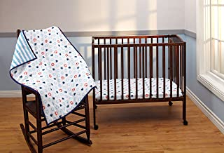 Disney Mickey Mouse 3 Piece Porta Crib/Mini Nursery Bedding Set - Comforter, 2 Sheets