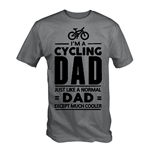 T Shirt Village Mens Cycling Dad, Like Normal Dad Except Much Cooler T Shirt