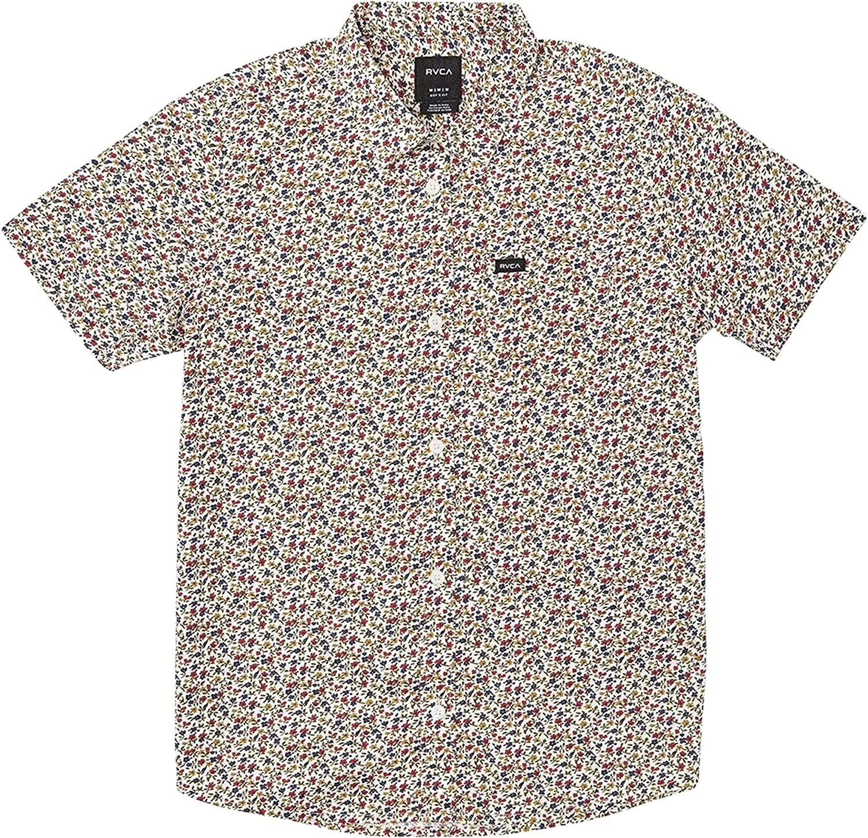 RVCA Boys' Thatll Do Stretch Short Sleeve Woven Button Front Shirt
