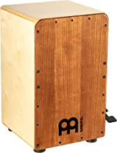 Meinl Cajon Box Drum with Pedal Activated Snare - NOT MADE IN CHINA - American White Ash Frontplate / Baltic Birch Body, Snarecraft Professional, 2-YEAR WARRANTY (SCP100AWA)