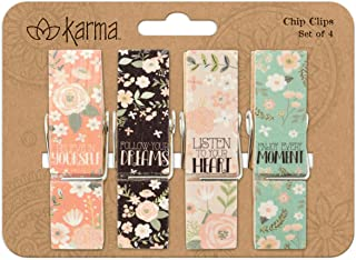 Karma Gifts Chip Clips, Flower