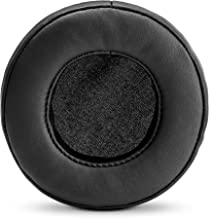 BRAINWAVZ Round Replacement Memory Foam Earpads - Suitable for Many Other Large Over The Ear Headphones - Sennheiser, AKG, HifiMan, ATH, Philips, Fostex, Sony (Black)