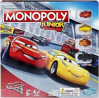 Monopoly Hasbro Gaming Junior: Disney Pixar Cars 3 Edition