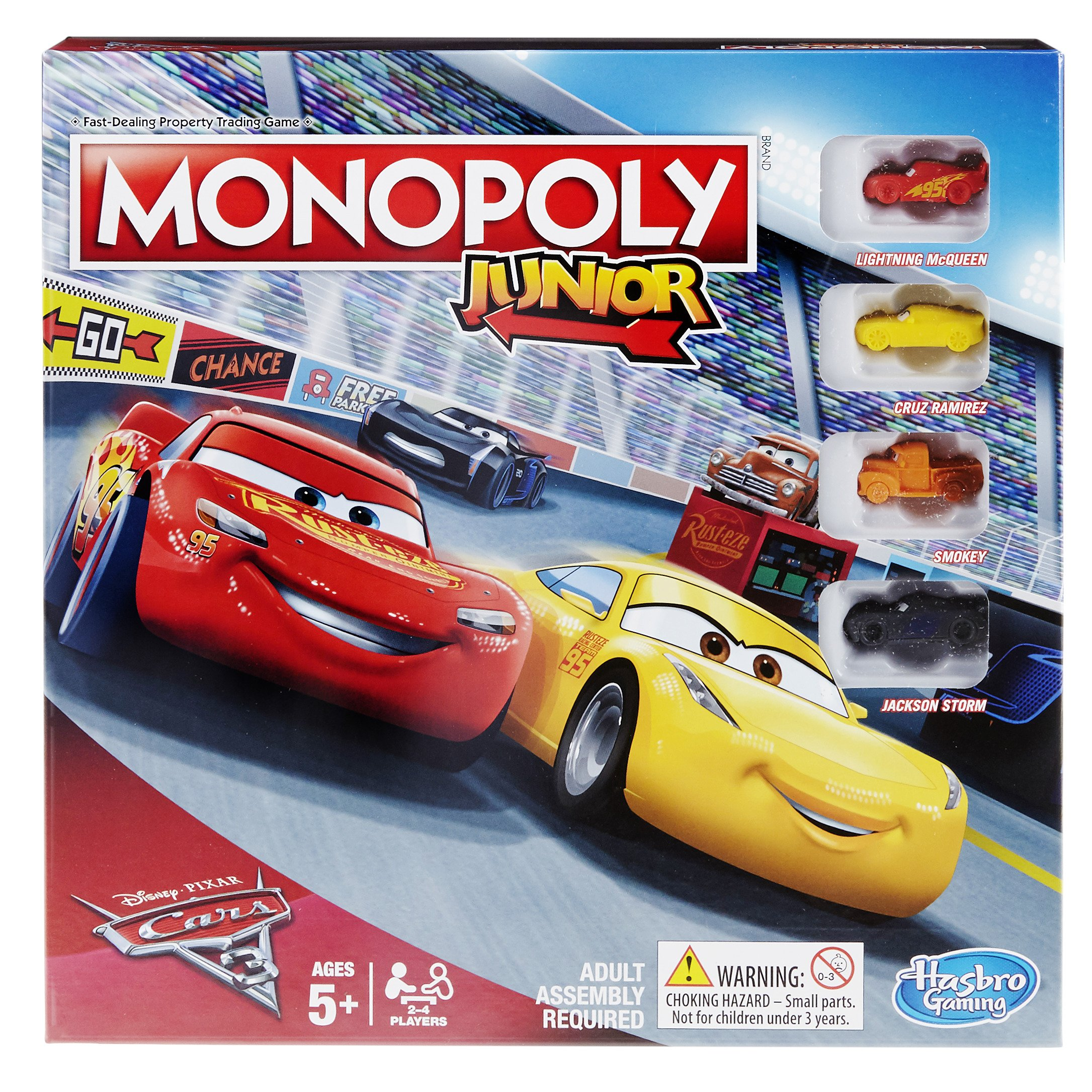 Monopoly C1343102 Junior: Disney Pixar Cars 3 Edition: Amazon.es: Juguetes y juegos