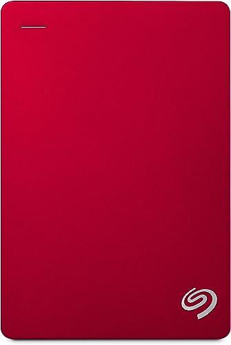 Seagate Backup Plus Portable Drive, 4TB, RED (STDR4000303)