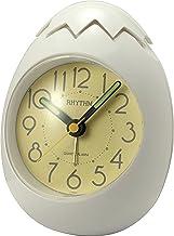 Rhythm Plastic Oval Clock Value Added Beep Alarm Clock, Tumbling Beep Alarm, See-Through Pack Numerals Dial, Plastic Case ...
