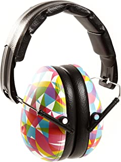 BANZ Kids Headphones – Hearing Protection Earmuffs For Children – ADJUSTABLE headband to fit all ages – Protect Kids Ears – Block Noise – Fireworks – Sporting Events – Concerts – Movies (Geo Print)