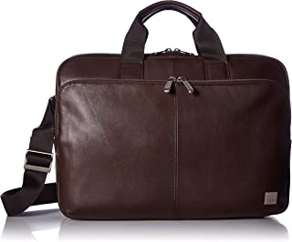 """Knomo Brompton Classic Newbury, 15"""" Leather Laptop Briefcase, with Device Protection, RFID Pocket and KNOMO ID, Brown"""