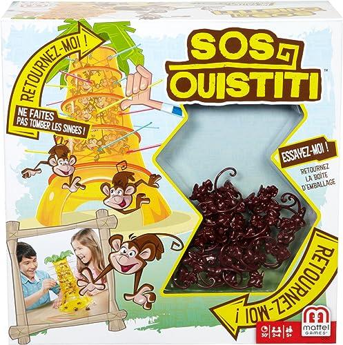 Mattel Games SOS Ouistiti, Jeu de Société et d'Adresse pour Enfants, Version Française, 52562