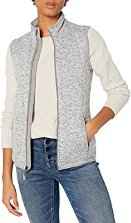 Charles River Apparel Women's Pacific Heathered Sweater Fleece Vest