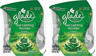 Glade Plugins Scented Oil Refill - Winter Collection 2017 - Tree Lighting Wonder - 2 Count Refills Per Package - Pack of 2 Packages