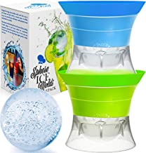 Sphere Ice Maker ball Molds - Large Clear Rubber reusable plastic opal Ice Mold Round Small Ice Cubes Drinks Silicone Tray...
