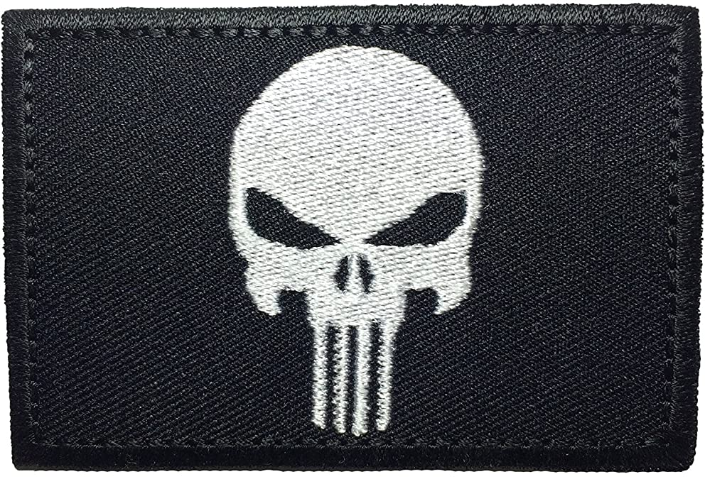 Tactical Morale Operator Skull Sew on Iron on Embroidered Applique Patch 2