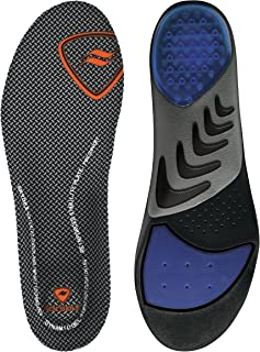 Sof Sole mens Airr Orthotic shoe insoles, Black, Men s 9-10.5 US