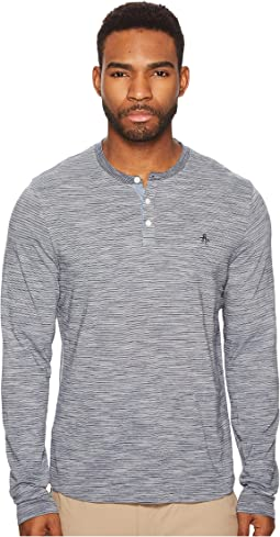 Long Sleeve Slub Feeder Henley