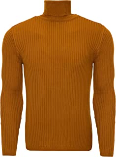 Karl's People K-107 - Pullover a collo alto in maglia fine, da uomo
