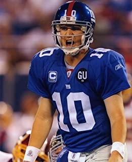 ELI MANNING NEW YORK GIANTS 8X10 SPORTS ACTION PHOTO (G)