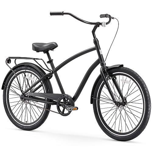 sixthreezero EVRYjourney Men's Step-Through Hybrid Alloy Beach Cruiser Bicycle (24-Inch, 26-Inch, and eBike)