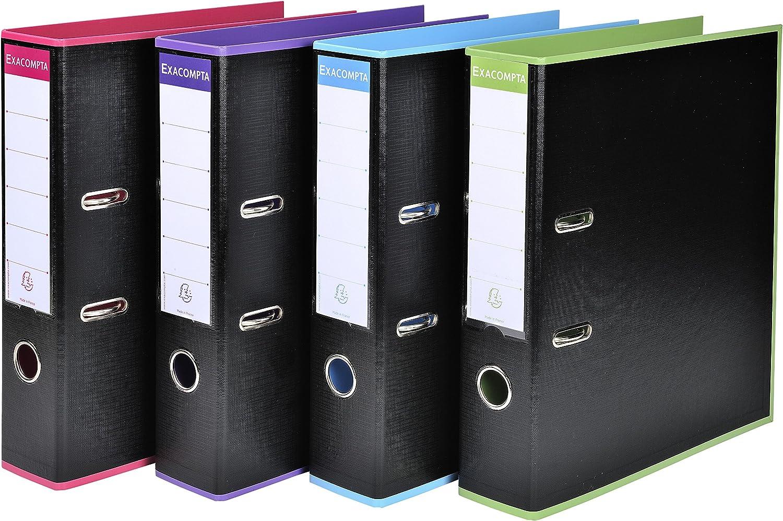 Schwarz Büro 53733e A4  Prem Touch  PP Ordner – Mehrfarbig (10 Stück) B07D2P461F | Bekannt für seine gute Qualität