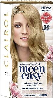 Clairol Nice'n Easy Permanent Hair Color, 8C Medium Cool Blonde, Pack of 1