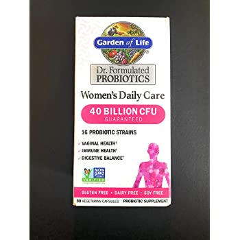 Garden of Life Dr. Formulated Women's Daily Care 30 Capsules 40 Billion CFU 16 Strains Vaginal Health, Immune Health, Digestive Health