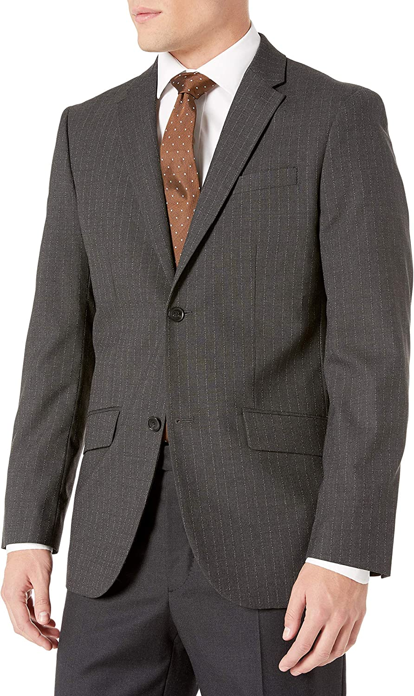 Perry Ellis Men's Non Iron Stripe Suit Jacket