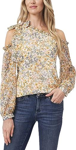 Long Sleeve One Shoulder Multi Floral