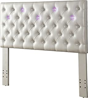 HOMES: Inside + Out Helio Tufted LED Lit Headboard, Twin, White