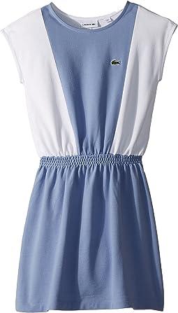 Lacoste Kids - Sleeveless Petit Pique Bicolored Sport Inspired Dress (Toddler/Little Kids/Big Kids)