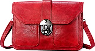 Elios Red Small Lightweight Casualwear Dresswear Phoneholder Cardholder Crossbody Sling Travel Bags For Women And GIrls