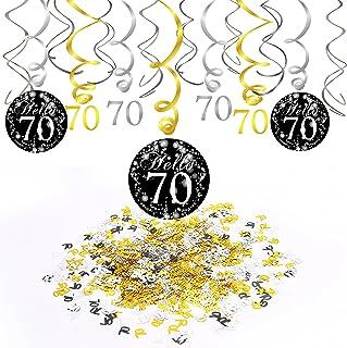 """Geburtstag Warnkreis Party Dekoration Partygirlande /""""70/"""" Party Girlande zum 70"""
