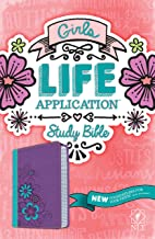 NLT Girls Life Application Study Bible, TuTone (LeatherLike, Purple/Teal)