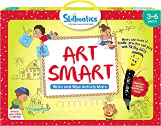Skillmatics Educational Game: Art Smart (3-6 Years)   Learning and Activity Games   Sketching, Drawing, Creative, Art   Erasable and Reusable Mats