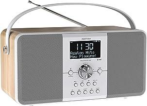 AZATOM Multiplex D2 DAB+ FM Digital Radio & Alarm Clock - Bluetooth 5.0 - Stereo Speaker - Twin Alarms - Massive Rechargea...