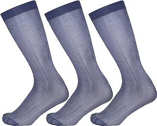 3-Pack Silk Dress Socks/Nylon Dress Socks/Sheer Dress Socks