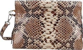 Roberta Rossi Outlet borsa a spalla da donna in vera pelle Stampa serpente fatta a mano in Italia, 20x28x13 cm. Made in It...