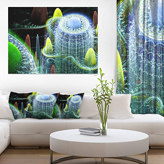 Amazon Com Designart World Of Infinite Fractal Universe Oversized Abstract Canvas Art 36x28in Multipanel 3 Piece 36x28 3 Panels Posters Prints