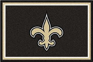 """FANMATS 6591 NFL New Orleans Saints Nylon Face 5X8 Plush Rug,Team Color,60""""x92"""""""