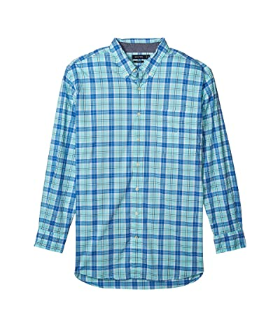 Nautica Big & Tall Big Tall Casual Plaid Woven Shirt (Blue) Men