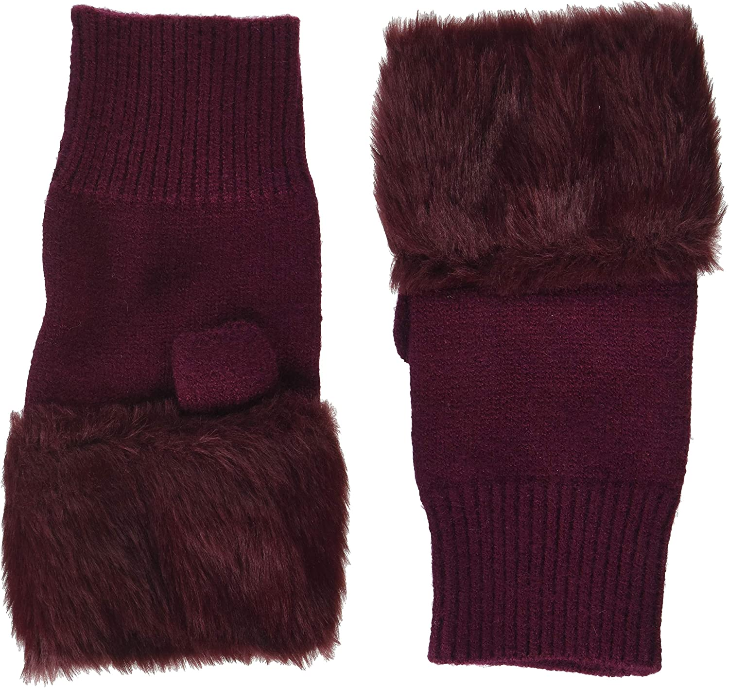 Steve Madden Women's Fur Hand Warmer with Solid