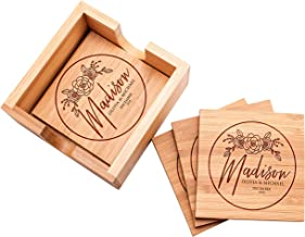 Customization Mill Customized Bamboo Coasters for Drinks   4