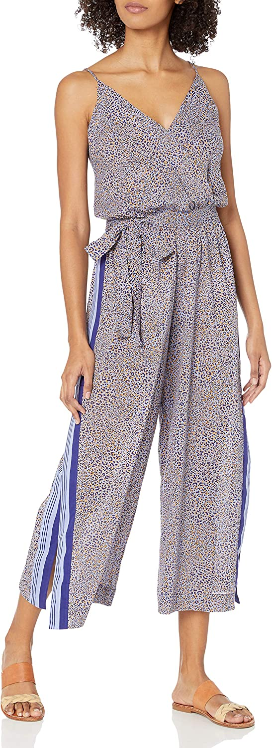 Seafolly Women's Standard Printed Wrap Front Jumpsuit Swimsuit Cover Up