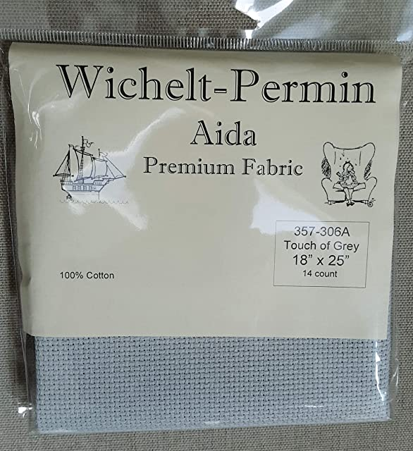 Wichelt Permin Premium AIDA Cross Stitch Fabric 14 Count Navy Blue 18 x 21