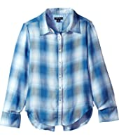 Tommy Hilfiger Kids - Yarn-Dye Split Hem Plaid Shirt (Big Kids)
