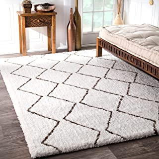 nuLOOM Corinth Hand Tufted Shag Rug, 9' x 12', Natural