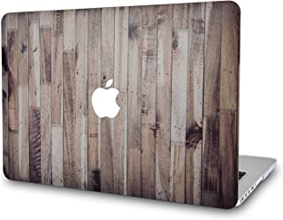 LuvCase Rubberized Plastic Hard Shell Case Cover Compatible MacBook Air 13 Inch A1466 / A1369 (No Touch ID) (Wooden)