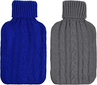 Cosmos Pack of 2 Knitted Cover for 2000 ml Hot Water Bottle Rubber Winter Warmer for Women Kids (Cover Sleeves Only)